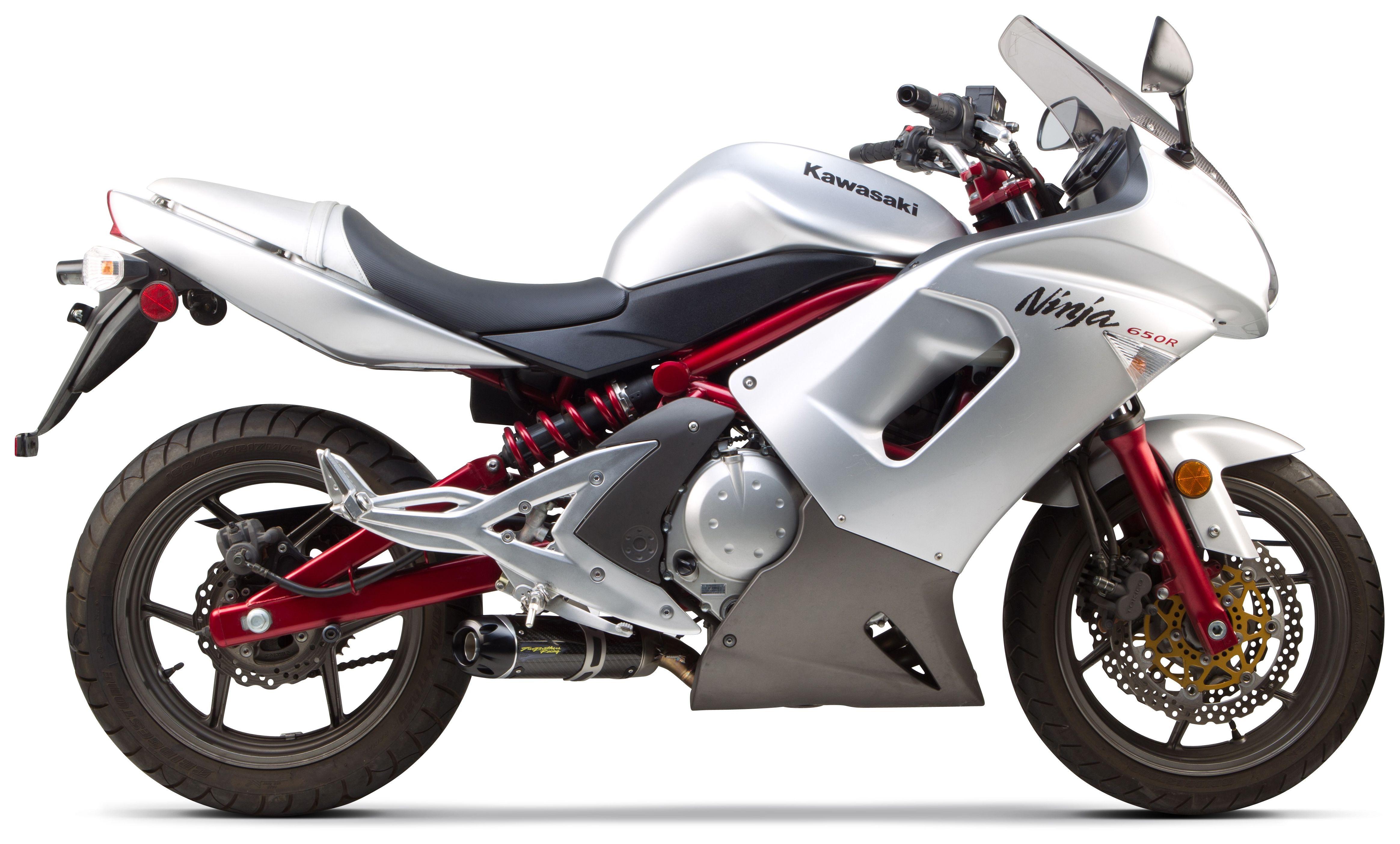 Two Brothers S1R Slip-On Exhaust Kawasaki Ninja 650R / Versys / ER6n ...