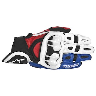 Alpinestars GPX Gloves White/Red/Blue / MD [Blemished]