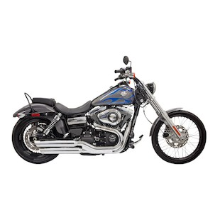 "Bassani 3"" Firepower Slip-On Mufflers For Harley Dyna 2008-2014"