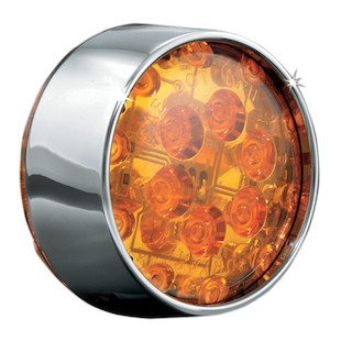 Kuryakyn LED Front Bullet Turn Signal Conversion Kit For Harley 1996-2018