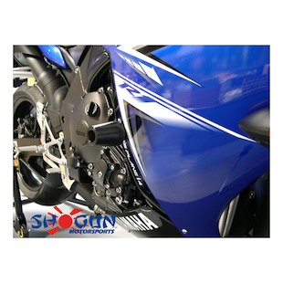 Shogun Frame Sliders Yamaha R1 2009-2014 Black / No Cut Kit [Previously Installed]
