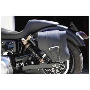 LaRosa Straight-Back Solo Side Bag For Harley Dyna 2006-2017