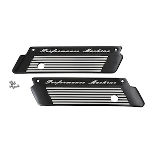 Performance Machine Fluted Saddlebag Latch Covers For Harley Touring 1993-2013