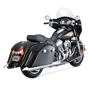 Vance & Hines Turn-Down Slip-On Mufflers For Indian Chieftain 2014-2016