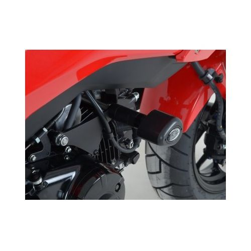 rg racing aero frame sliders honda grom 2014