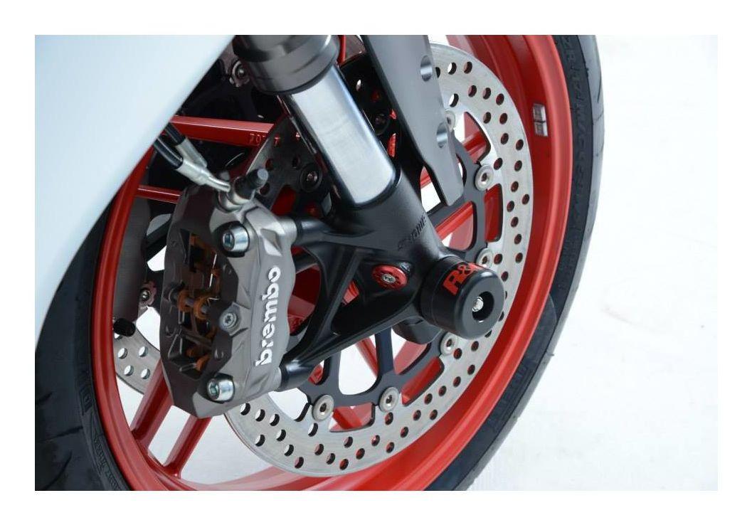 R/&G Racing Fork Axle Sliders Protectors for Ducati 1199 /& 899 Panigale FP0109BK