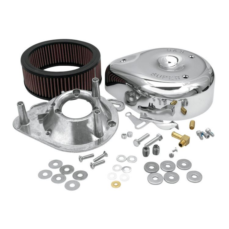 S&S Teardrop Air Cleaner Kit For Super E&G Carburetors