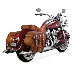 Vance & Hines Turn-Down Slip-On Mufflers For Indian Chief Classic / Vintage 2014-2018