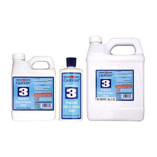 Cycle Care Formula 3 Windshield, Paint And Chrome Polish