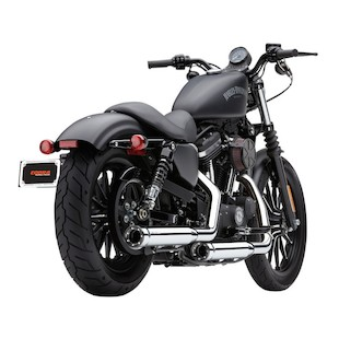 """Cobra 3"""" Mufflers With Race Pro Tips For Harley"""