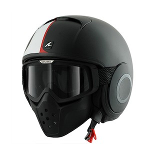 Shark Raw Stripe Helmet Matte Black/White/Red / XL [Blemished]