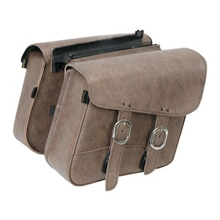 Willie & Max Double Down Brown Slant Saddlebags