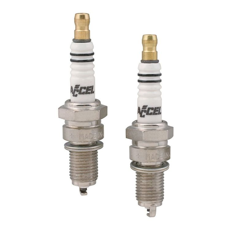 Accel U-Groove Spark Plugs For Harley Big Twin 1980-1999