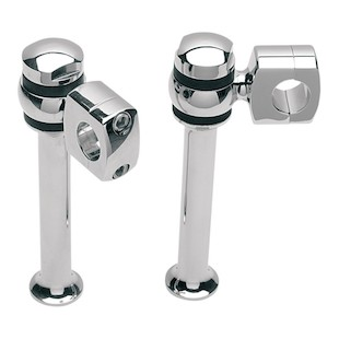 Custom Cycle Engineering Chrome Offset-Style Risers For Harley