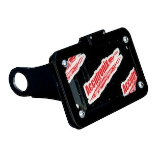 Accutronix Side Mount LED Light License Plate Frame For Harley Sportster 2004-2014