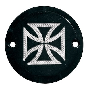 Accutronix Iron Cross 2 Hole Points Cover For Harley Big Twin/Sportster 1970-2014