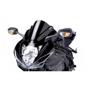 Puig Racing Windscreen Suzuki GSXR 600/GSXR 750 2011-2014 Black [Previously Installed]