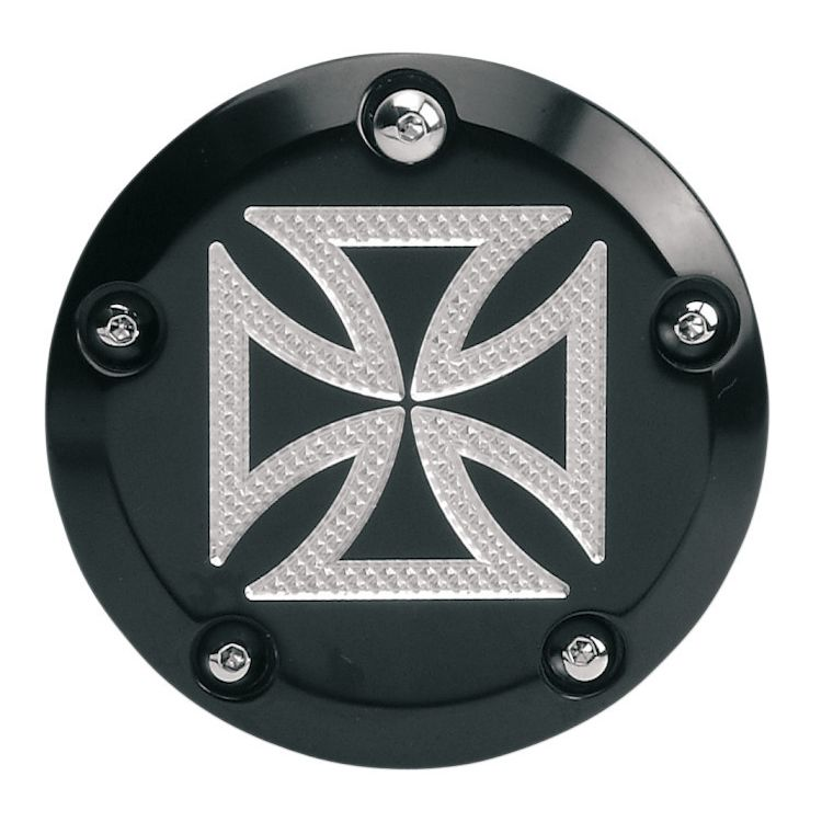 Accutronix Iron Cross 5 Hole Points Cover For Harley Twin Cam 1999-2017