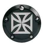 Accutronix Iron Cross 5 Hole Points Cover For Harley Twin Cam 1999-2015