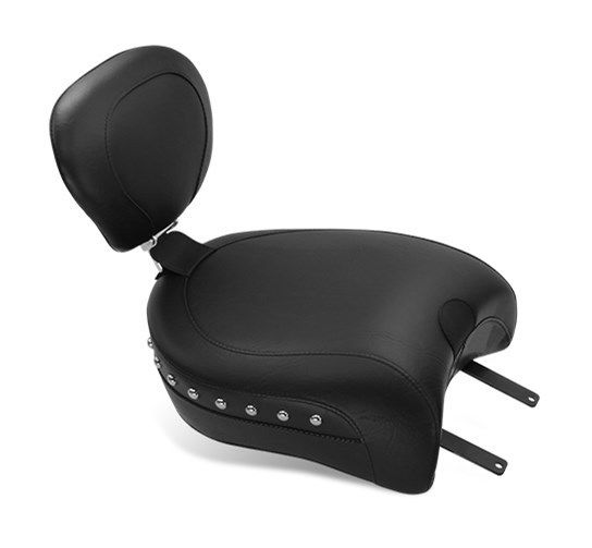 mustang solo touring passenger seat with backrest receiver. Black Bedroom Furniture Sets. Home Design Ideas