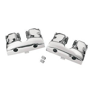 Drag Specialties Chrome Rocker Box Covers For Harley Shovelhead 1966-1984