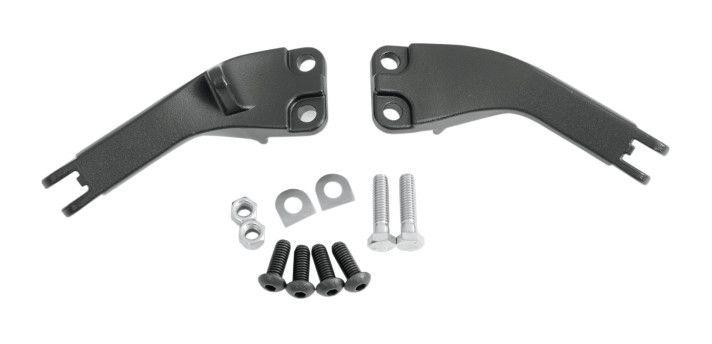 BAMT Black Passenger Foot Peg Mounting Brackets Mounts Compatible with Harley Dyna Glide models 2006-2017