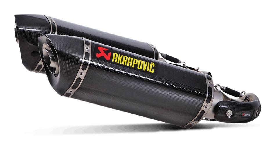 akrapovic slip on exhaust ducati monster 696 796 1100 revzilla