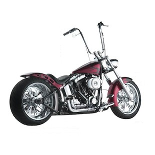 Santee Skirt Blower Pipes By Paul Yaffe For Harley Softail 2012-2017