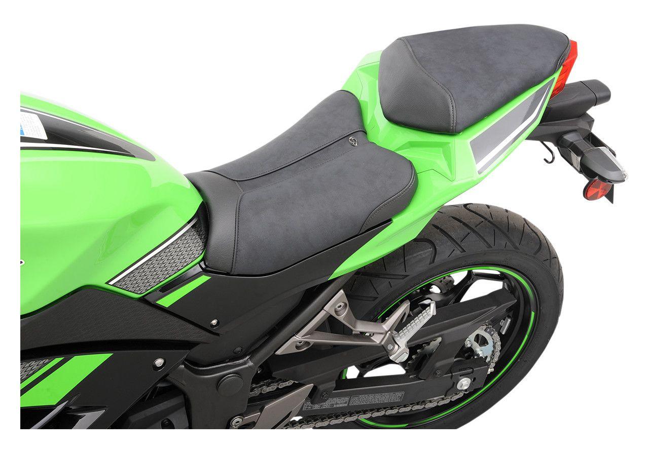 Saddlemen Gel Channel Sport Seat Kawasaki Ninja 300 2013 2017 Revzilla Green