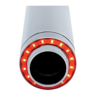 """Cycle Visions 4"""" LED Afterburner Exhaust Tips For Harley"""