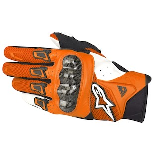 Alpinestars SMX-2 Air Carbon Gloves - 2011 Orange/White / LG [Demo]