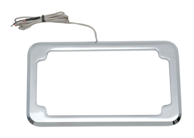 Cycle Visions CV-4615 Beveled License Plate Frame Chrome
