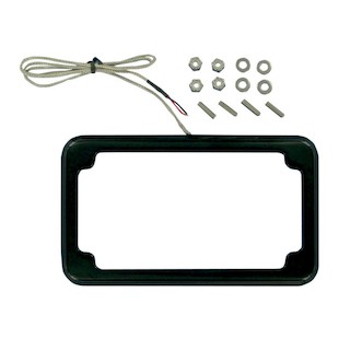 Cycle Visions Beveled License Plate Frame With LED Tag Light