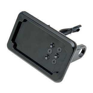 Cycle Visions LED Side-Mount License Plate Holder For Harley Dyna 1991-2005