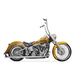 Bassani True Dual Pipes With Long Fishtails For Harley Softail 2007-2014