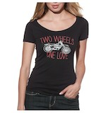 Thor Women's 2 Wheels Scoop Neck T-Shirt