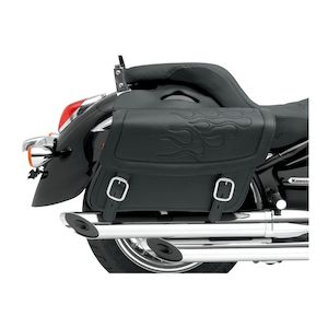 Saddlemen Highwayman Flame Tattoo Saddlebags