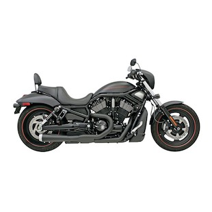 Bassani Road Rage 2-Into-1 Exhaust System For Harley V-Rod 2007-2015 Short Megaphone With Heat Shields... [Blemished]