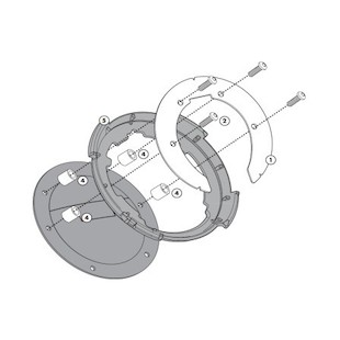 Givi Tanklock Bike Specific Flange BF07 [Previously Installed]