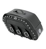Saddlemen Slant Saddlebags With LED Lights For Harley Softail 1984-2014