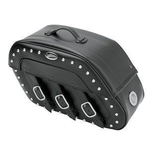 Saddlemen Slant Saddlebags With LED Lights For Harley Dyna 1996-2014