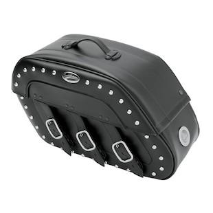 Saddlemen Slant Saddlebags With LED Lights For Harley Sportster 1994-2014