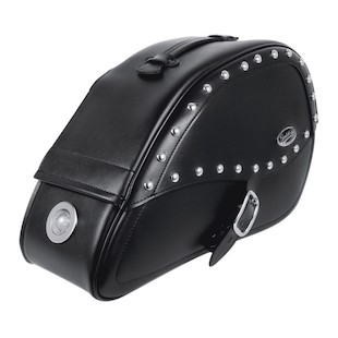 Saddlemen Teardrop Saddlebags With LED Lights For Harley