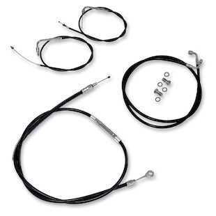 "LA Choppers Handlebar Cable And Brake Line Kit For Harley Touring w/ABS 2008-2013 Black / 12""-14"" Ape... [Open Box]"