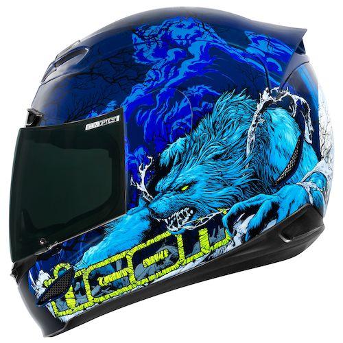 Icon Helmet Graphics Helmet Blue · Icon