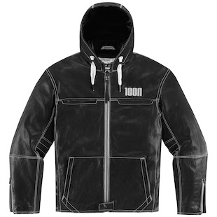 Icon 1000 Hood Leather Jacket