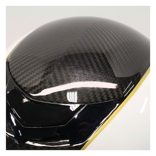 LaZer Monaco Window Pure Carbon Helmet Carbon/Metallic White/Gold / XS [Blemished]