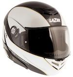 LaZer Monaco Window Pure Carbon Helmet Carbon/Metallic White/Gold / XS [Blemished]