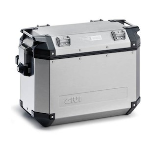 Givi Trekker Outback 48 Liter Side Cases Silver / Left [Blemished]