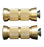 Accutronix Shift/Brake Peg For Harley Grooved Pegs (Pair) / Brass [Open Box]